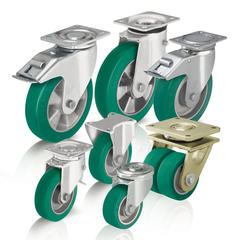Heavy duty wheels and casters with cast polyurethane tread Blickle Softhane®