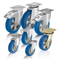 Heavy duty wheels and casters with cast polyurethane tread Blickle Besthane® Soft