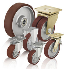 Heavy duty wheels and casters withcast polyurethane tread Blickle Besthane®
