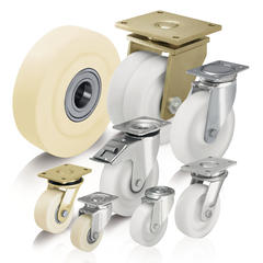 Heavy duty nylon cast iron wheels and casters