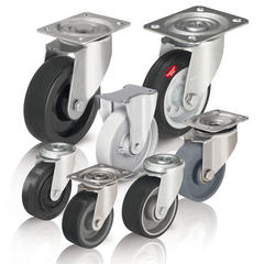 Heat-resistant wheels and casters