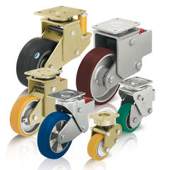 Spring-loaded heavy duty casters